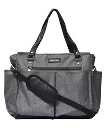 Bohomia Classic Multi-Pocket Diaper Bag - Grey