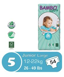 Bambo Nature Diapers Junior - 54 Pieces