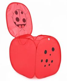 Storage Bag With Lid Lady Bug Print - Red
