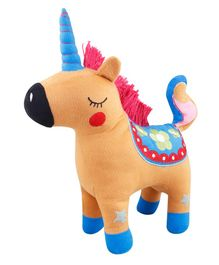 Little Hug Unicorn Soft Toy Brown - Height 35 cm