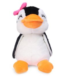 Dimpy Stuff Penguin Soft Toy Black And White - Height 20 cm