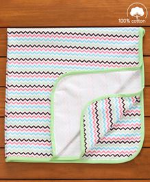 Babyhug Cotton Diaper Changing Mat and Bed Protector - Multicolor