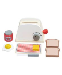 Wufiy Pop-Up Wooden Toaster Set - Multicolour