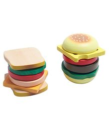 Wufiy Wooden Sandwich & Burger Making Set - Multicolour