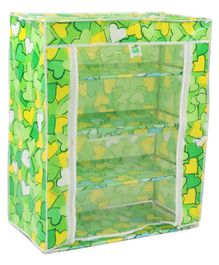 4 Layered Printed Storage Unit - Green
