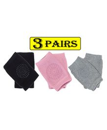 Babymoon Knee Pads Pack of 3 Pairs - Multicolour