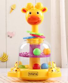 Babyhug Press & Spin Giraffe Toy - Multicolor
