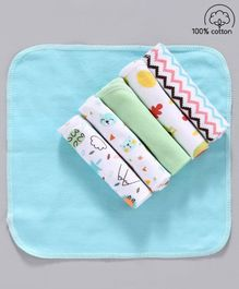 Babyhug 100% Cotton Wash Cloth Pack of 6 - Multicolor