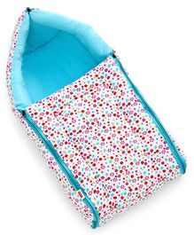 Babyhug Sleeping Bag Floral Print - Blue