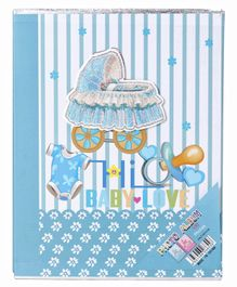 Baby Photo Album Love Print - Blue