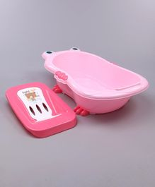 Babyhug Bath Tub With Bath Tray Animal Print - Pink