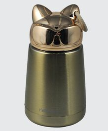 Pix Stainless Steel Double Wall Insulated Thermos Flask Golden- 300 ml