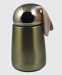 Pix Stainless Steel Rabbit Design Double Wall Insulated Thermos Flask Golden - 300 ml