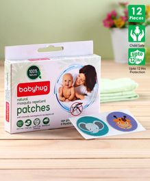 Babyhug Waterproof Natural Mosquito Repellent Patches - 12 Pieces