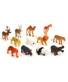 Dr. Toys Wild Animals Set of 12 - Multicolor