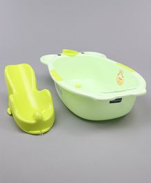Babyhug Bath Tub With Bath Sling - Green