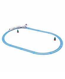 Dr. Toys 2 in 1 Armed Train Transformer - Blue & White