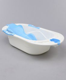 Babyhug Baby Bath Tub With Bath Sling - Blue
