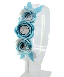 Aye Candy Flowers Design Hair Band - Blue