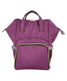 VParents Lovie Dovie Multipurpose Diaper Bag cum Mother Bag Backpack with 13 Pockets - Purple