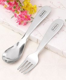 Babyhug Stainless Steel Spoon & Fork Set