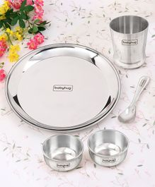 Babyhug Stainless Steel Dinner Set - 5 Pieces