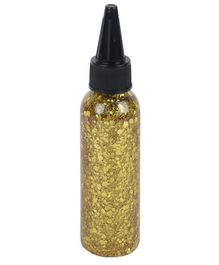 Yellow Bee Glitter Glue Bottle With Multi Sized Bits Golden - 70 ml