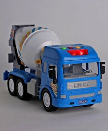Dr. Toy Battery Operated Friction Truck With Lights & Music - Blue