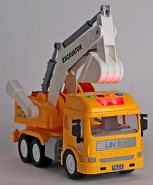 Dr. Toy Battery Operated Friction Truck With Lights & Music - Yellow