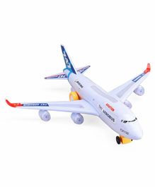 Dr. Toy Battery Operated 747 Aerobus With Lights - White