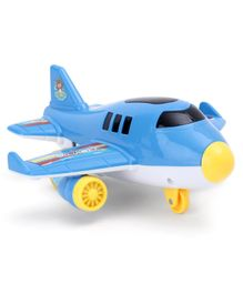 Friction Powered Aeroplane Toy - Blue
