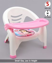 Chair With With Detachable Food Tray Cartoon Print - Pink