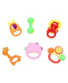 Baby Rattle Toys Pack Of 6 - Multicolor