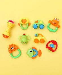 Animal Shape Baby Rattles  Multicolor - Set of 9