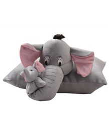 Deals India Folding Elephant Pillow Grey - 40 Cm