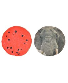 Deals India 3D Creative Squishy Pillow Back Cushion Set of 2 - 35 cm