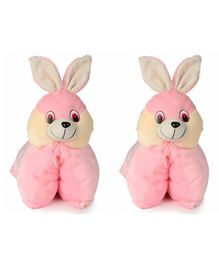 Deals India Folding Bunny Pillow Pink Set of 2 Pink - 40 cm