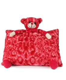 Deals India Teddy Pillow Red - Height 35 Cm