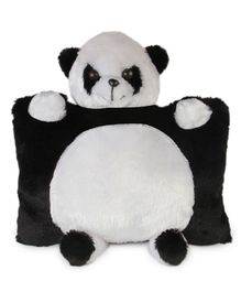 Deals India Panda Cushion Black & White - Height 35 cm