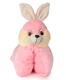 Deals India Folding Bunny Pillow Cum Soft Toy - Pink
