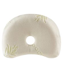 The White Willow Memory Foam Infant Baby Head Shaping Pillow - White
