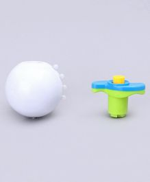 Spinning Top With Music & Lights - White