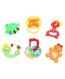 Animal Shape Baby Rattle Toys Multicolor - Pack of 6