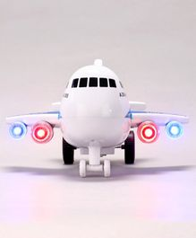 Dr. Toys A - 380 Super Jumbo Aeroplane With Music And Lights - White