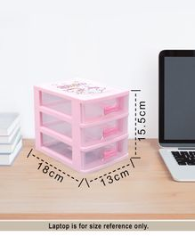 Multipurpose Storage Box With 3 Layers - Pink