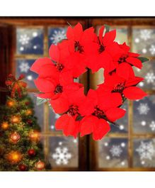 Amfin Christmas Wreath For Xmas Party Decoration Red - 1 Piece
