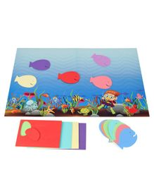 Funjoy Foam Fishes Sticker Set - Multicolor