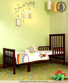 Babyhug Chester 3 in 1 Junior Bed With Mattress And Rocking Cot - Dark Brown