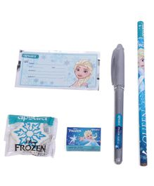 Apsara Disney Frozen School Kit Blue & Grey - Pack Of 5