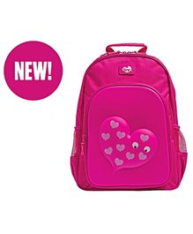 Tinc Mallo Character School Backpack Heart Print Pink - 17 Inches